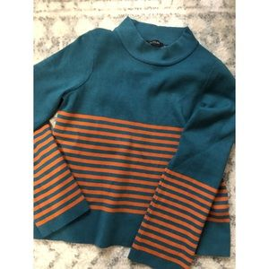 Roolee striped bell sleeve sweater nwot
